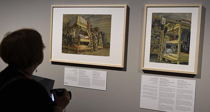 Una exposición de pinturas dedicada a Holocausto en Berlín