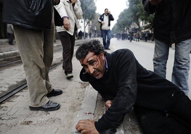 Disturbios en Túnez a principios de la Primavera Árabe