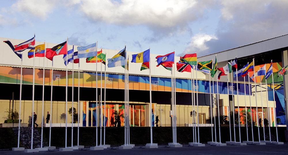 Banderas de los países miembros de CELAC