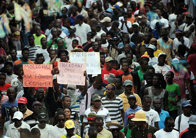 Protesta en Port-au-Prince, Haití
