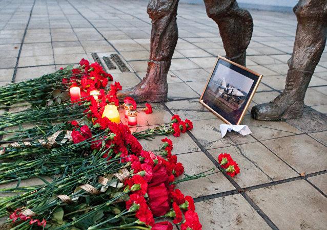 Homenaje a Oleg Peshkov, piloto del Su-24 derribado por la aviación turca sobre Siria
