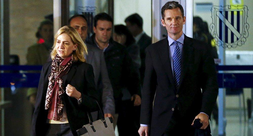 La infanta Cristina de Borbón con su marido Iñaki Urdangarin