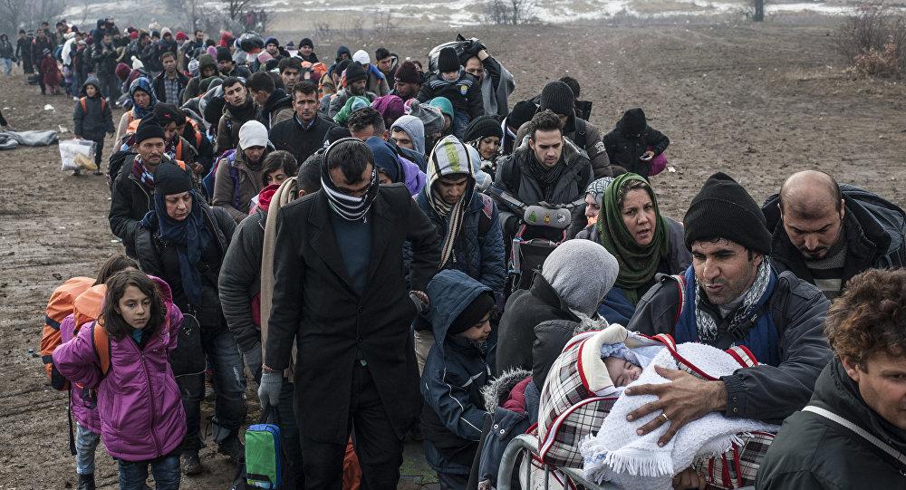 Refugiados llegando a Serbia (archivo)