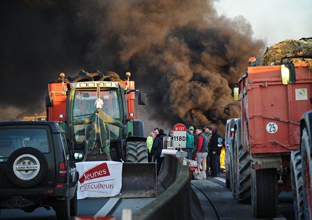 La protesta de los agricultores franceses