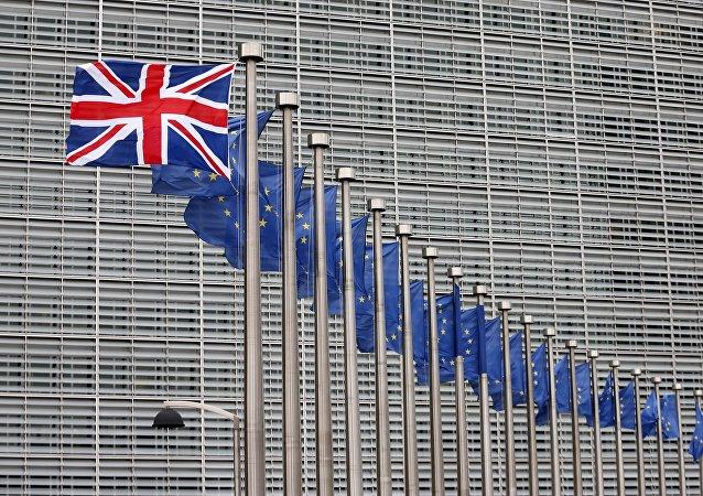 Banderas del Reino Unido y de la UE