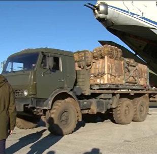 Ayuda humanitaria rusa para los habitantes de la ciudad Deir Ezzor