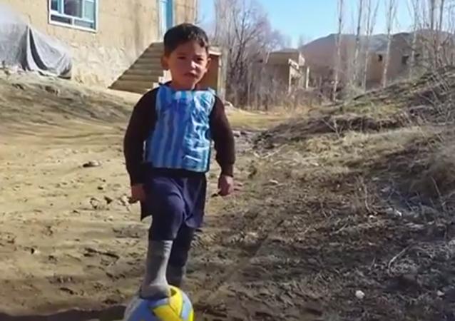El pequeño Messi afgano