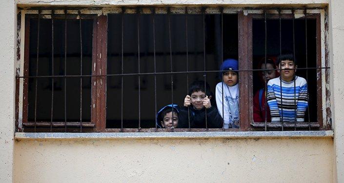 El campo de refugiados en Yayladagi, Turquía