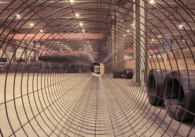 Producción de tuberías para el gasoducto Nord Stream (archivo)