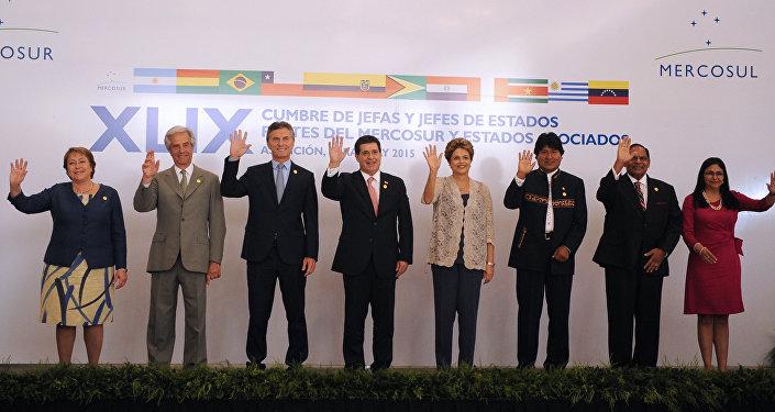 Los jefes de Estados en la 49ª Cumbre del Mercosur en Asunción