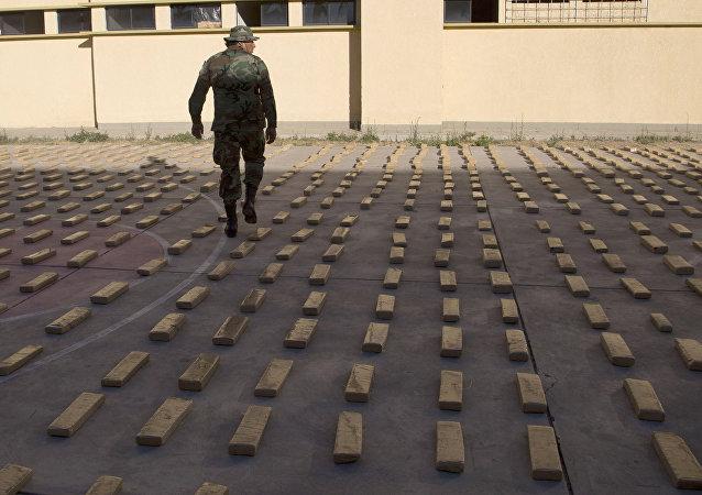 Marihuana incautada en Bolivia