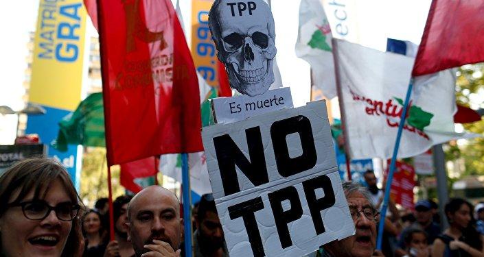 Protesta contra TPP (archivo)