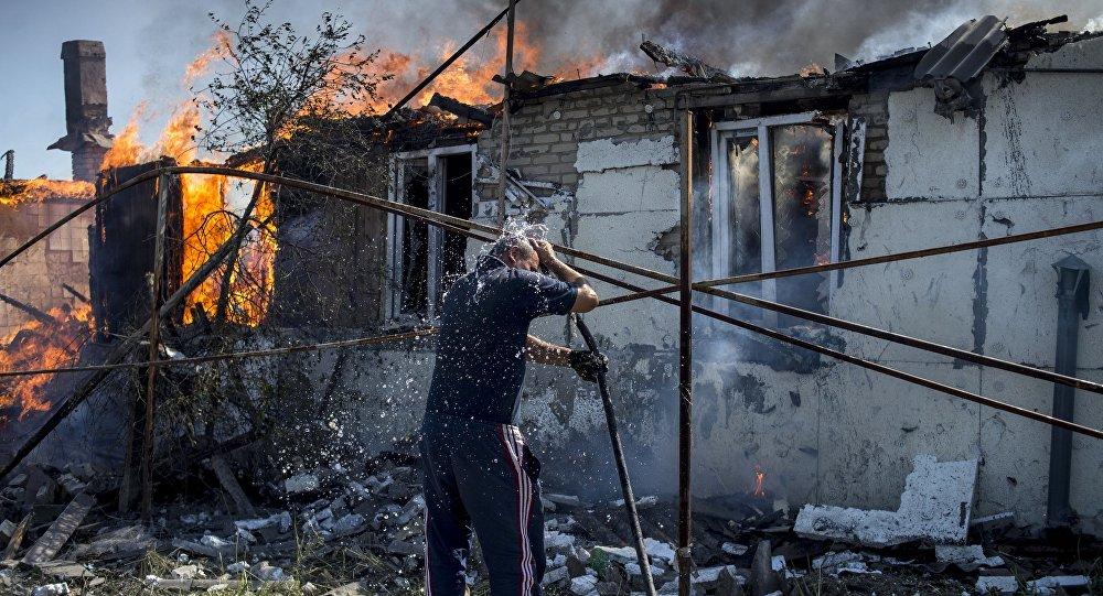 Situación en la región de Lugansk (archivo)