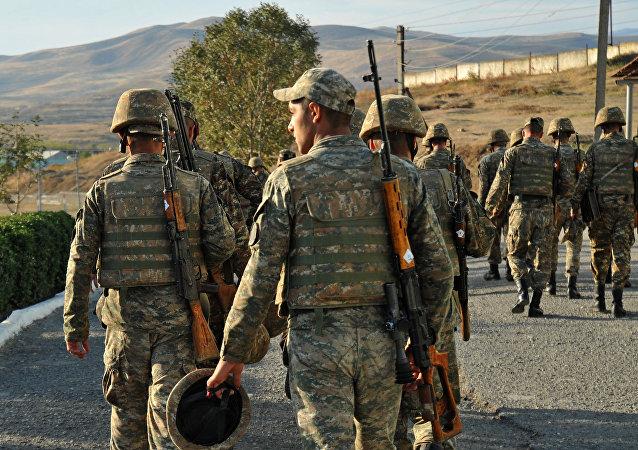 Soldados armenios (Archivo)
