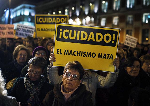 Una protesta contra el machismo (archivo)