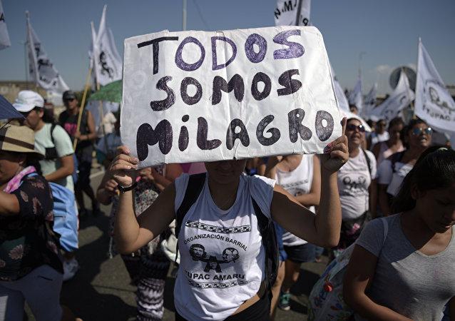 Activistas de Tupac Amaru exigen liberación de Milagro Sala