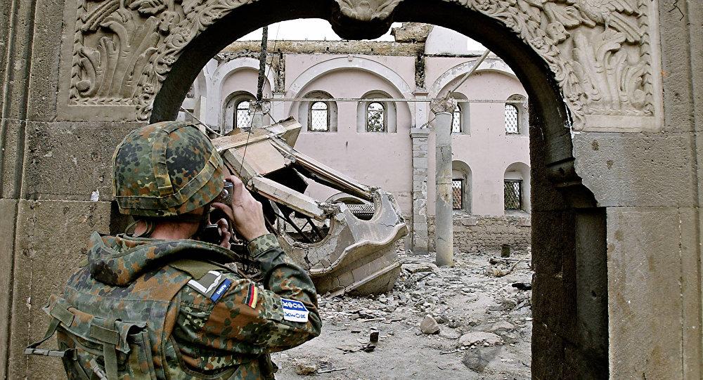 Soldado aleman en Kosovo