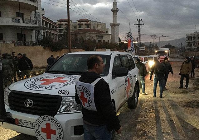 Ayuda humanitaria de La Cruz Roja en Siria