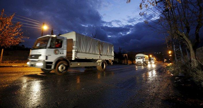 Un convoy humanitario en Siria