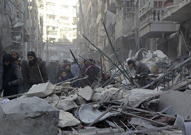 Situación en Alepo, Siria (archivo)