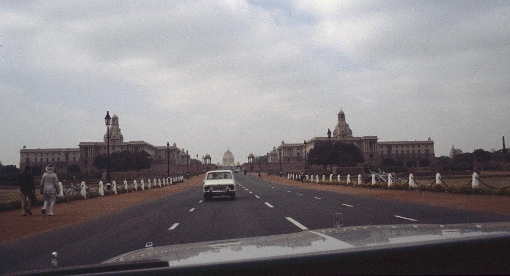 La carretera central de Rajpath en Nueva Delhi