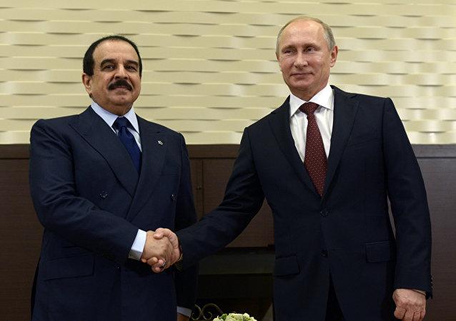 Rey de Baréin, Hamad bin Isa Al Jalifa, y presidente de Rusia, Vladímir Putin