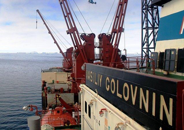El buque diésel eléctrico Vasili Golovnin
