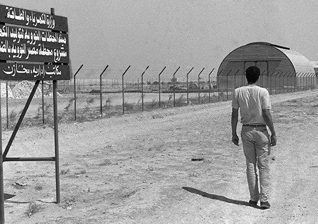 Una foto de archivo del sitio de la construcción de la planta nuclear en Dabaa