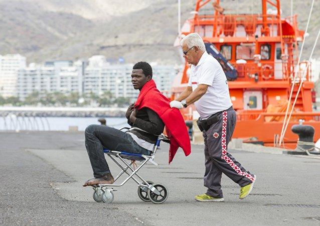 Migrante en Gran Canaria
