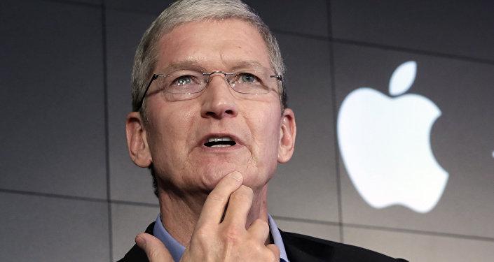 Tim Cook, director ejecutivo de Apple (archivo)