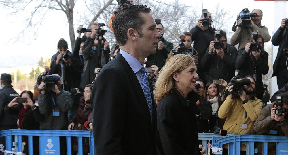 Cristina de Borbón con su esposo, Iñaki Urdangarin