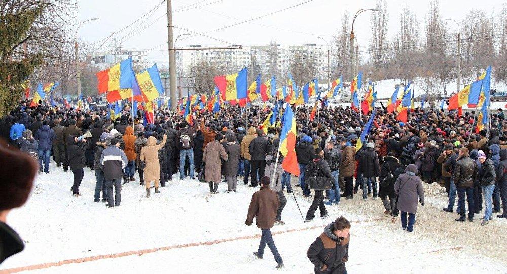 Protestas en Moldova