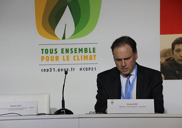 Greg Hunt, ministro de Medio Ambiente de Australia
