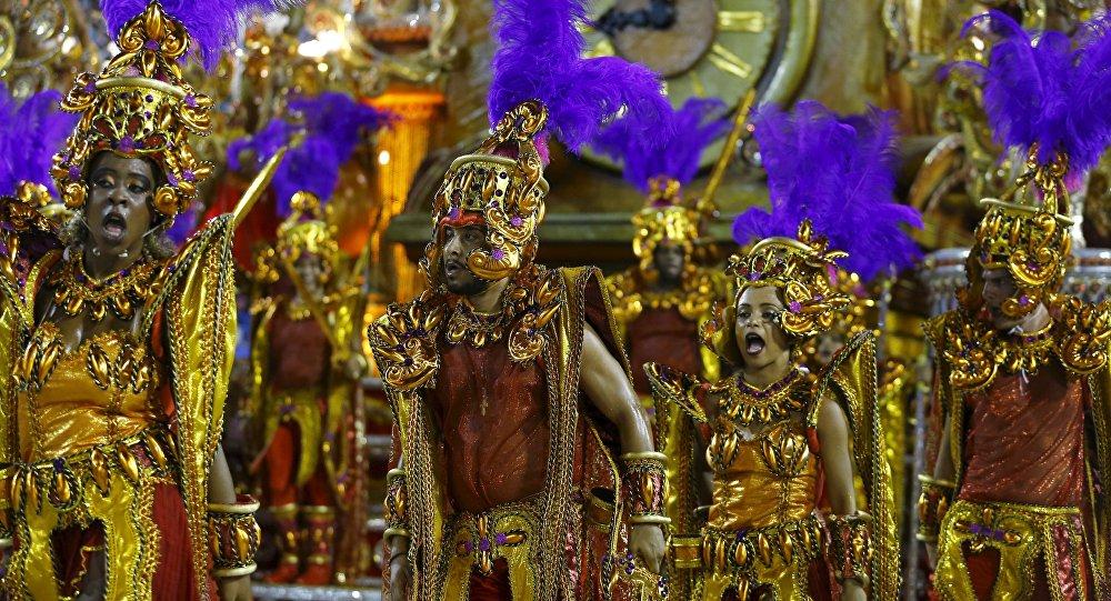 Participantes del Carnaval de Río de Janeiro