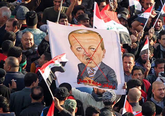 Protestas en Irak contra la presencia de las tropas turcas en el territorio del país