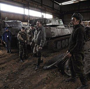 Las milicias de la RPD retira los morteros de Donetsk