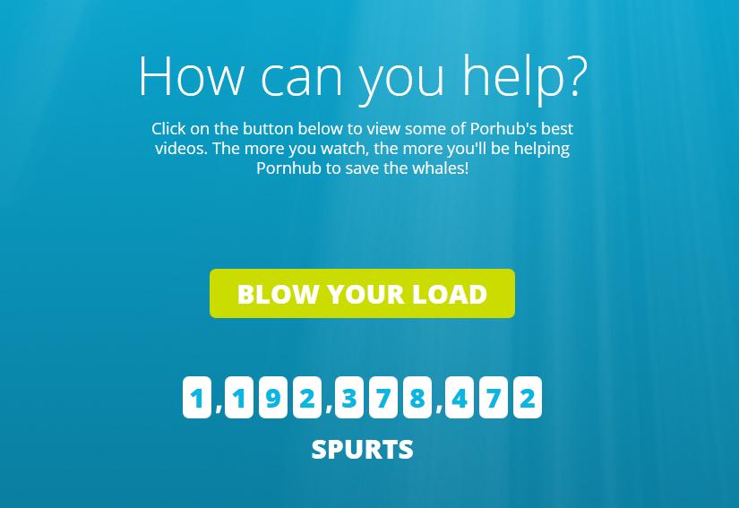 Página web de la campaña Save the Whales de PornHub