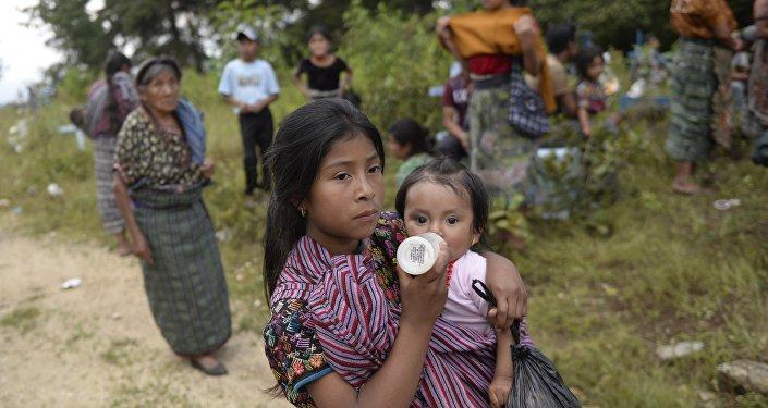 Un pueblo indígena en Guatemala
