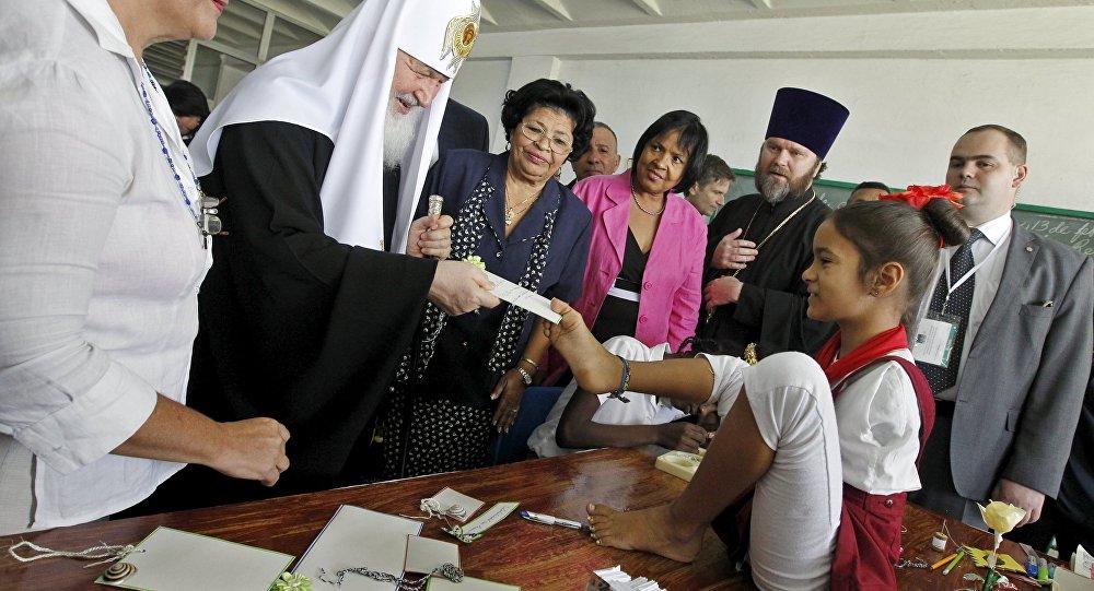 Patriarca Kiril en la Escuela Especial Solidaridad con Panamá