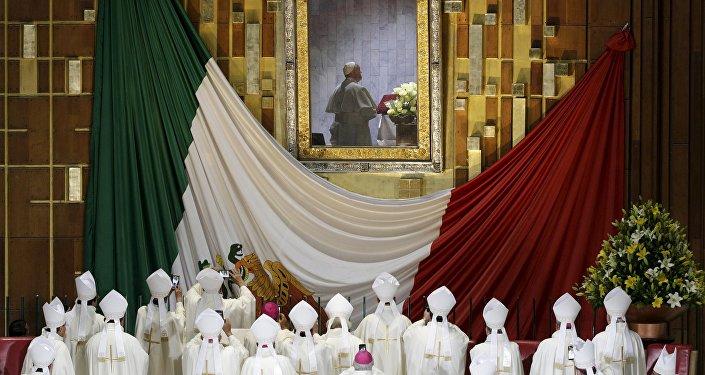 Papa Francisco en la Basílica de la Virgen de Guadalupe