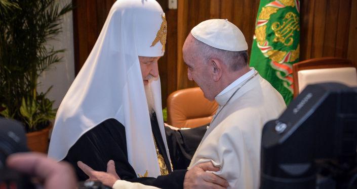 El patriarca Kiril y el papa Francisco