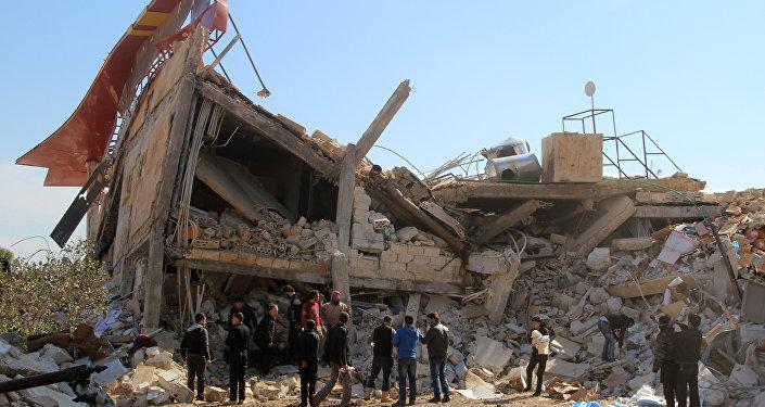 Restos del hospital de Médicos Sin Fronteras en la ciudad siria de Idlib