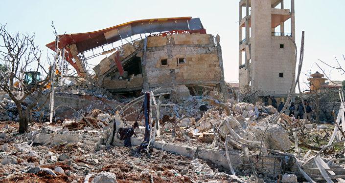 Restos de un edificio en Siria