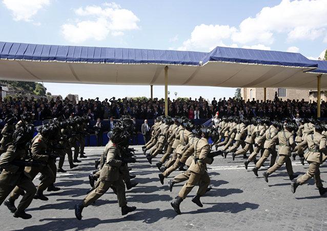 Soldados del ejército italiano