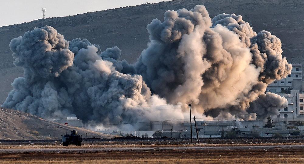 El humo sobre la ciudad siria Kobane