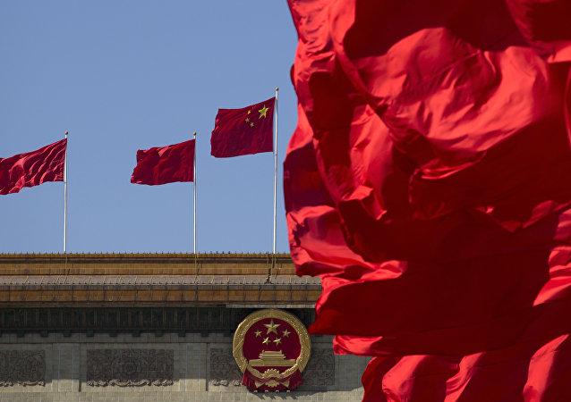 La bandera nacional de China