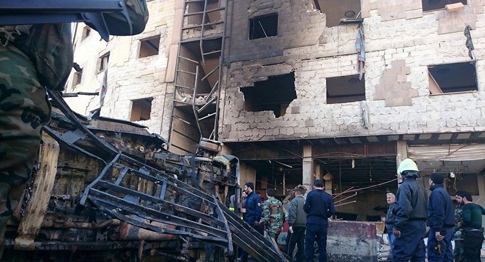 Un edificio arruinado en Siria