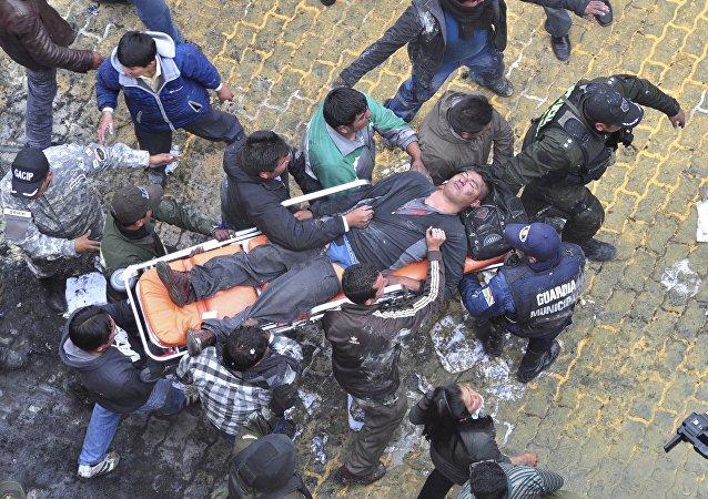 Un hombre herido en El Alto