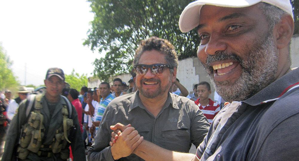 Iván Márquez, uno de los comandantes de las FARC, durante la campaña por la paz en La Guajira