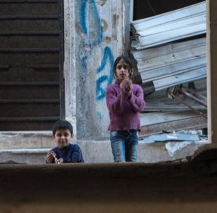 Niños en Alepo